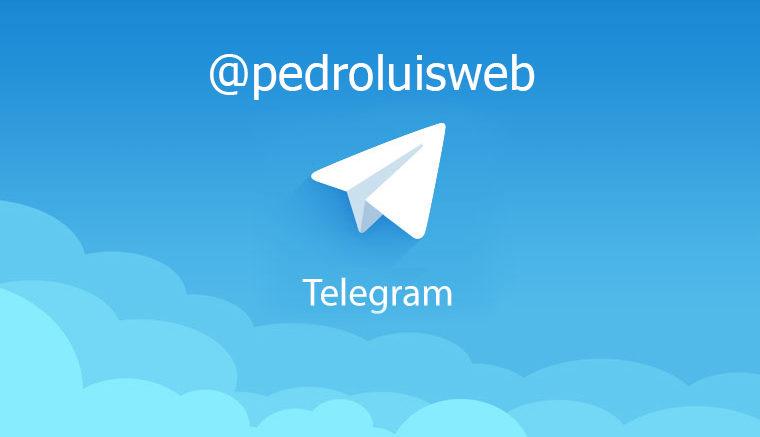 pedroluisweb telegram 760x437 - Nuestro nuevo canal en Telegram